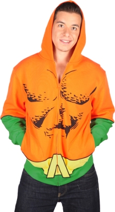 Aquaman is useless, but this hoodie isn't. Warning: you won't be able to talk to the fishes wearing this.