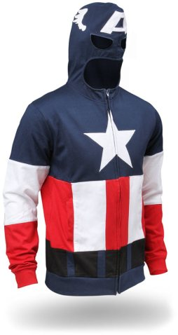 When Captain America dons his mighty hoooooooood!
