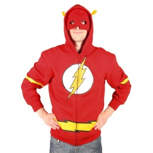 We could do without the mask, but this Flash hoodie is awesome.