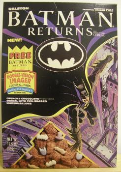 The Bat, The Cat and The Penguin. This cereal taste like it was made with parts from all three animals.