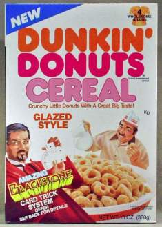 """Time to make the donuts! So much creepy goin on here. Blackstone and the Dunkin Donuts guy both giving me that predator eye? """"Glazed Style""""? Nah, son..."""
