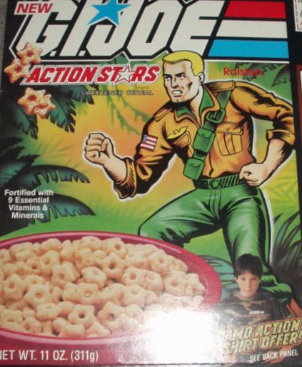 Did not know G.I. Joe had a cereal. Again with the stars, how does this help me experience G.I. Joe, huh?