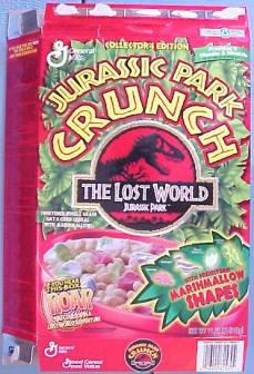 Jurassic Park skipped over the chance to put out a cereal for the first movie. Not so for The Lost World.