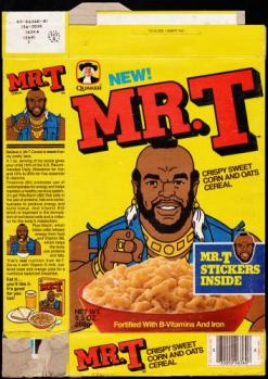 Mistaaaaa T!!! This was actually a tasty cereal.
