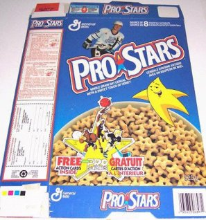 Crunchy stars? How original! Where are my Gretzky, Jordan and Tecmo Bo marshmallow shapes, huh?!!