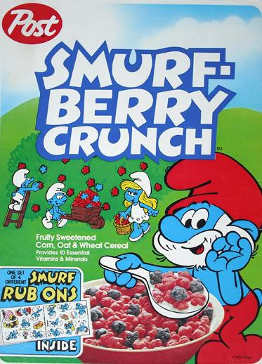 """""""Smurf-Berry Crunch is fun to eeaaaaat! A very fruity breakfast treeaaaaatt!"""""""