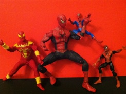 Spider-Men! Spider-Men! Friendly Neighborhood Spider-Men! Thanks again to William Bruce West for my budding Spidey collection.