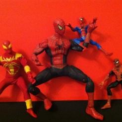 Spider-Men! Spider-Men! Friendly Neighborhood Spider-Men! Thanks again to William Bruce West for my budding Spidey collection.