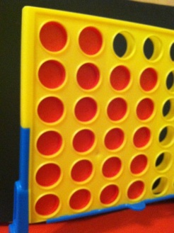Connect Four? Yeah, I play that! I usually choose red b/c Mrs. Classick went black and... you know the rest...