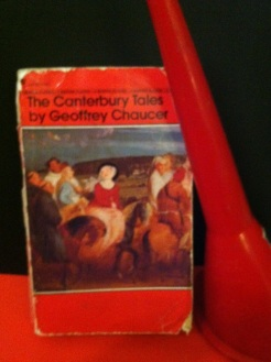 The Canterbury Tales. Red funnel added for no reason whatsoever. I'll bet everyone's favorite tale is The Merchant's, right?
