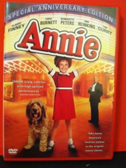 "My DVD copy of ""Annie"", the 1982 movie smash hit based on the musical. Carol Burnett as Ms. Hannigan was brilliant."