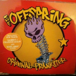 I struggled to find a CD with a red booklet that was still in its jewel case. This single by The Offspring did nicely.