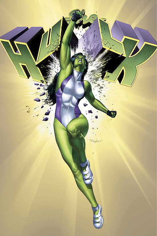 One of strongest women in the Marvel Universe, She Hulk is also one of the smartest. Attorney Jennifer Walters received her powers and green skin by way of a blood transfusion from her cousin Bruce Banner. She's been a comics mainstay and heartbreaker ever since.