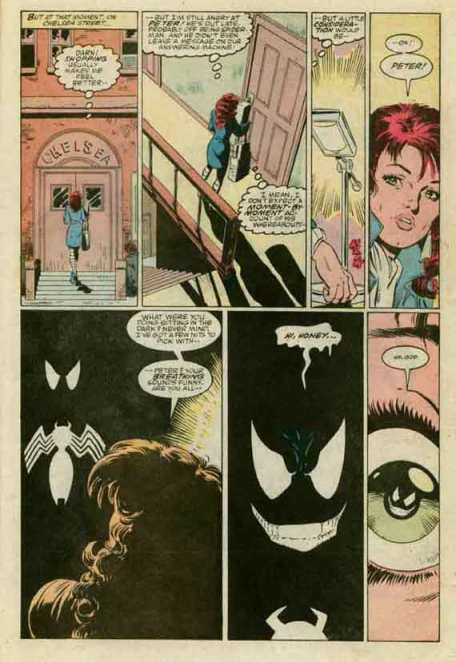 Mary Jane comes home to find.. Venom!  Amazing Spider-Man #299