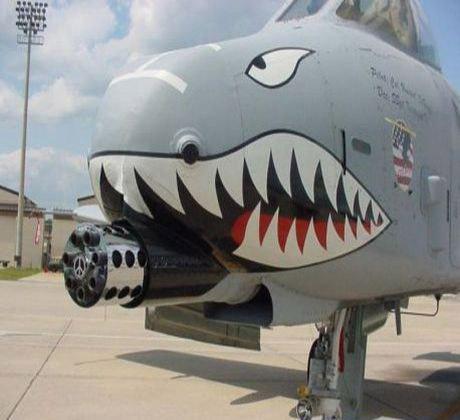 Shark Face Jet Fighter plane